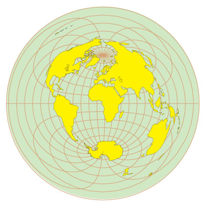 Azimuth (Equidistant) Projection